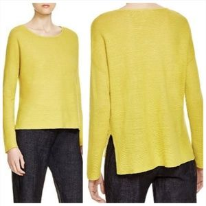 Eileen Fisher Mustard Yellow Linen Sweater